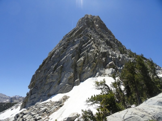 Crystal Crag, view of the climber's route