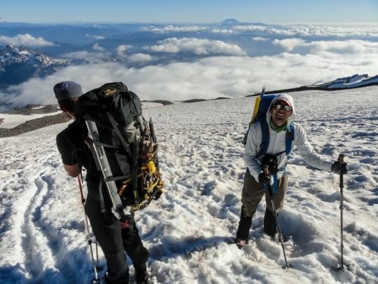 Slogging the Muir Snowfield