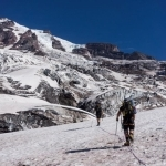 Crossing the Nisqually Glacier