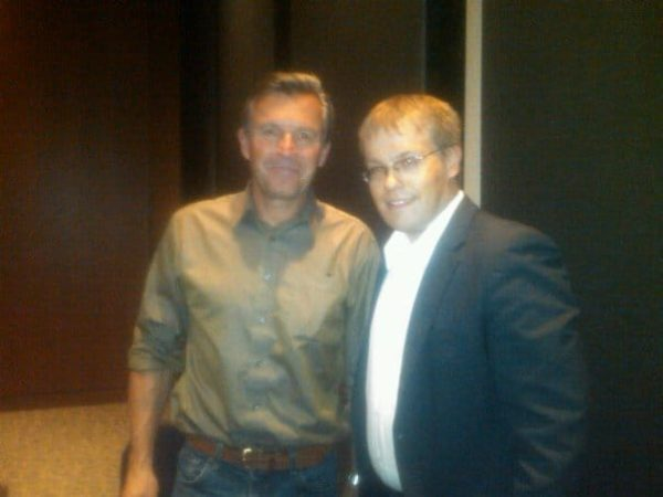 Ed Viesturs and I during a talk at National Geographic
