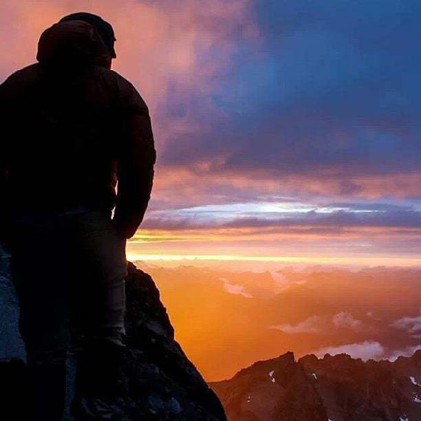 The most amazing sunset I've ever seen, climbing Mount Stuart in the Cascades.