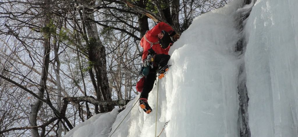 Ice Climbing in Crawford Notch, New Hampshire
