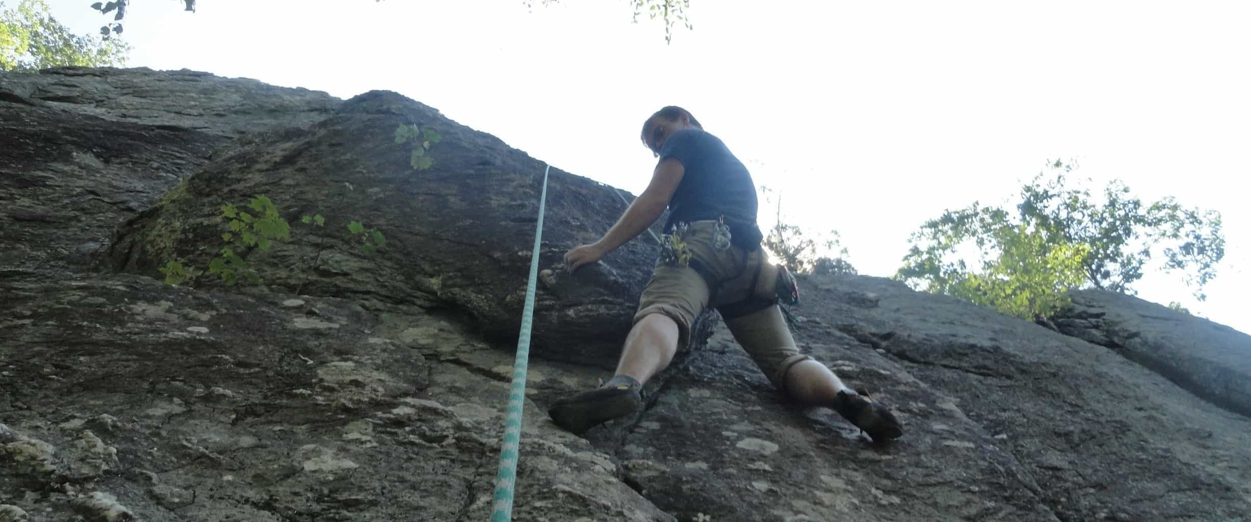 Rock Climbing at Carderock, Maryland - DC's Closest Crag