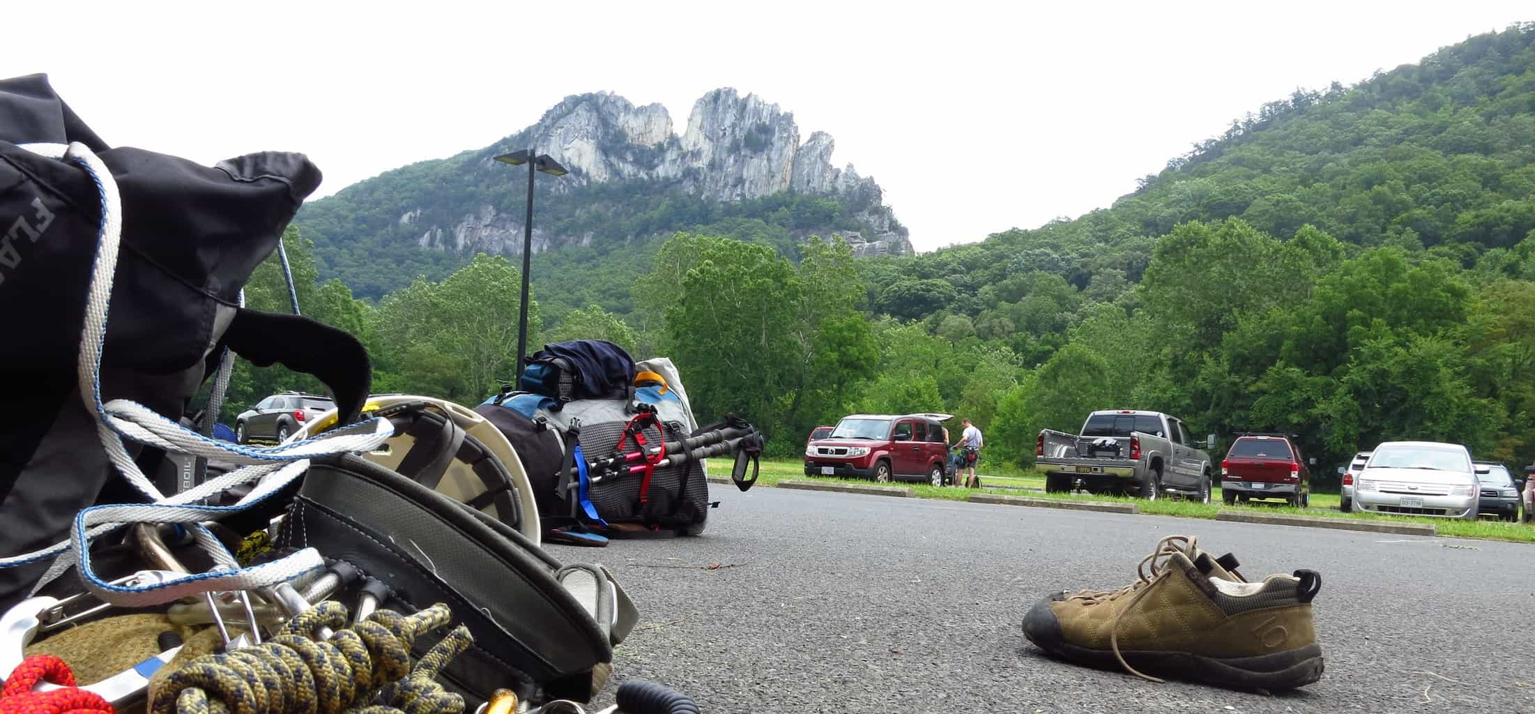 Stormy, Hot, and Humid: Climbing at Seneca Rocks with PATC-MS