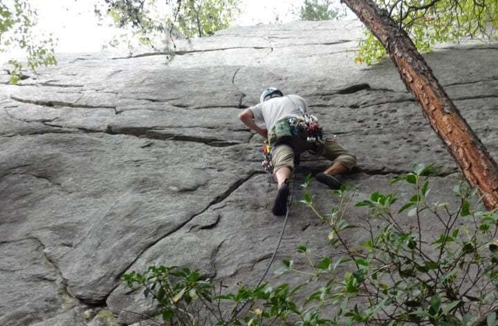 Climbing at Indian Grave Ridge
