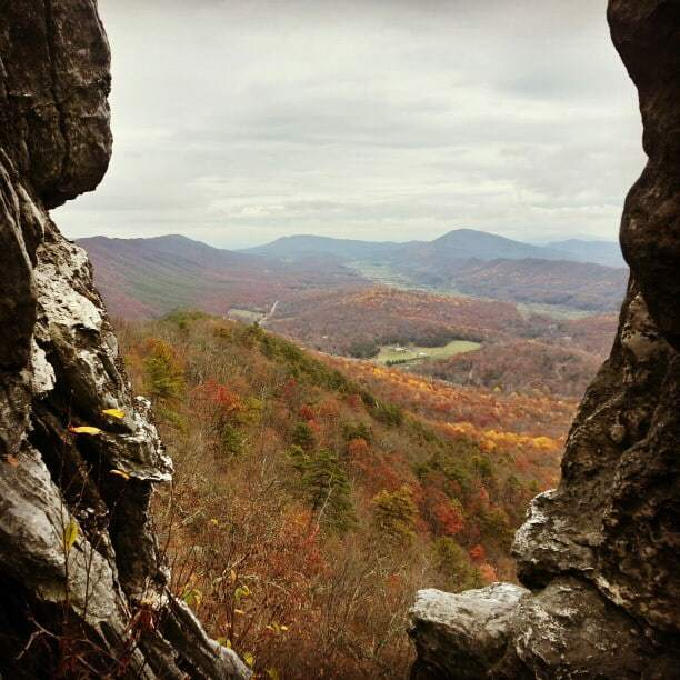 View from Dragon's Tooth along the Virginia Triple Crown