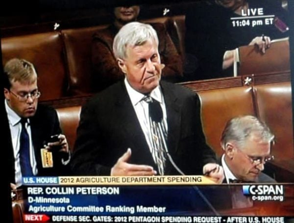 Me working late on the House Floor, Blackberry in hand!