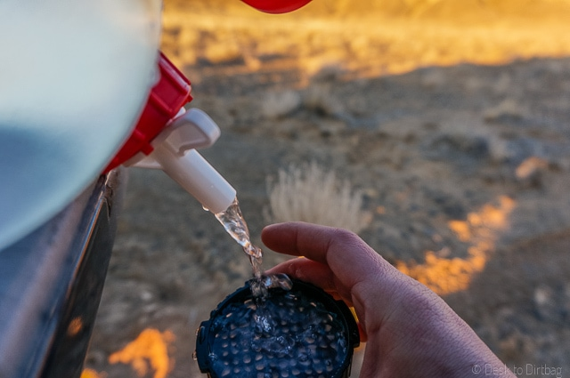 Wet the filter with a little bit of water--this keeps the filter in place. The Best Camping Coffee Maker & How to Make Coffee While Camping