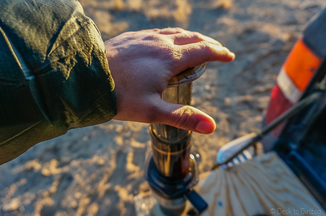 Slowly depress the plunger over 20-30 seconds with one hand. The Best Camping Coffee Maker & How to Make Coffee While Camping