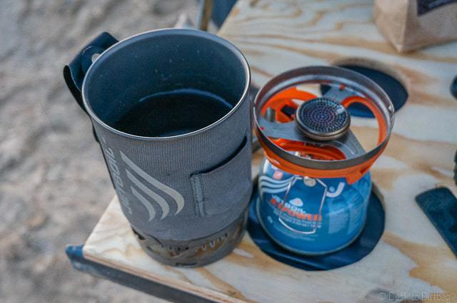 I like the Jetboil because it is super fast at boiling water.