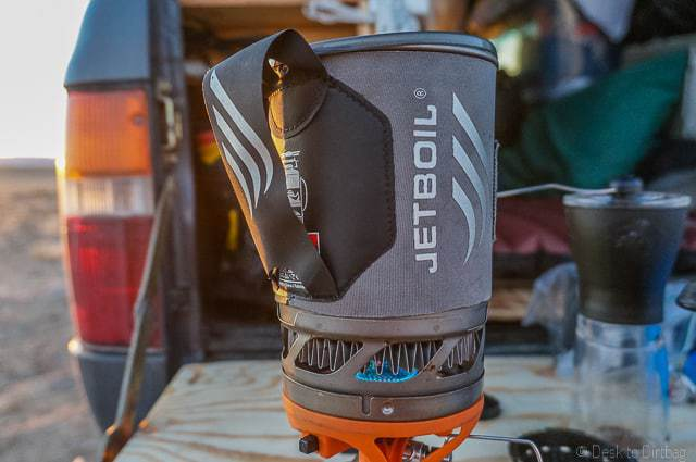 Boil water in just a few quick minutes with a Jetboil