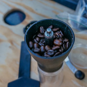 I use a hand cranked burr grinder. The Hario Mini Mill Slim Grinder has been excellent.