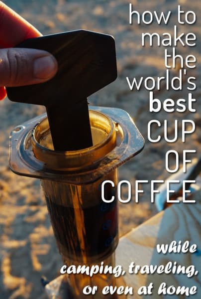 Want to find the best camping coffee maker? Look no further, here's how to brew a truly delicious cup of coffee while camping and traveling... www.desktodirtbag.com