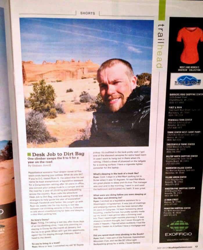 Blue Ridge Outdoors Magazine Interview