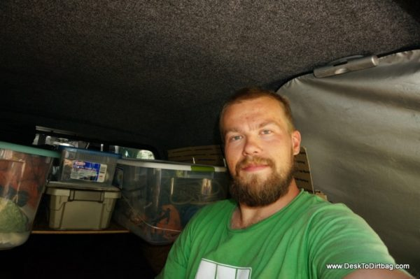 """Sufficient headroom for me in the Leer 122 Canopy (I'm 5'9"""")."""