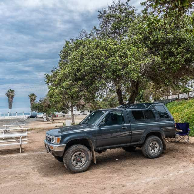 Camped near the Pacific Ocean in Baja California in Mexico.