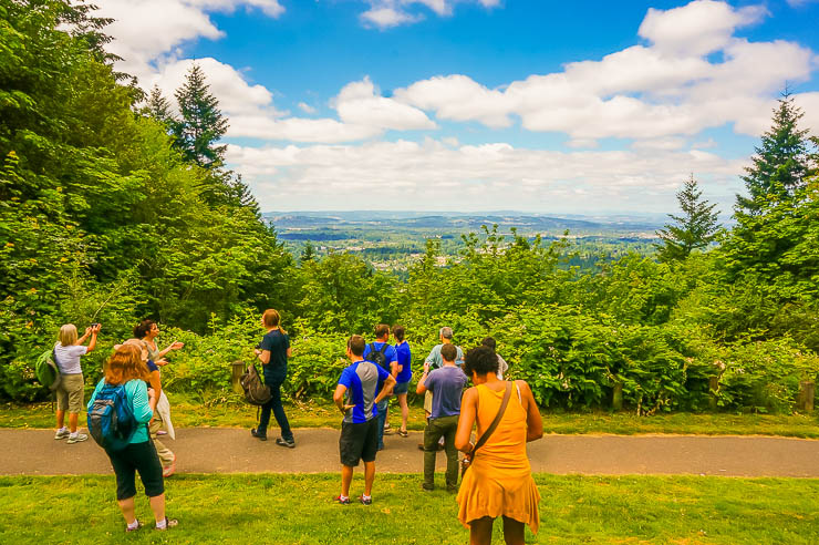 Hike overlooking Portland, Oregon - Thoughts on Living a Remarkable Life: Dreams, Doing Things, Memories