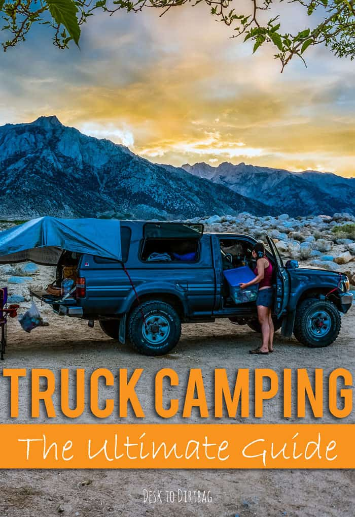 The ultimate guide to pickup truck camping and outfitting the back of a truck and canopy for camping, living, and life on the road. Climber's perspective.
