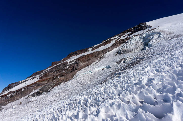 Climbing Mount Rainier via the Kautz Glacier Route washington, trip-reports, alpine