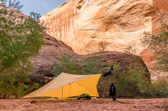 My MLD TrailStar in Coyote Gulch - Backpacking Coyote Gulch in Grand Staircase Escalante