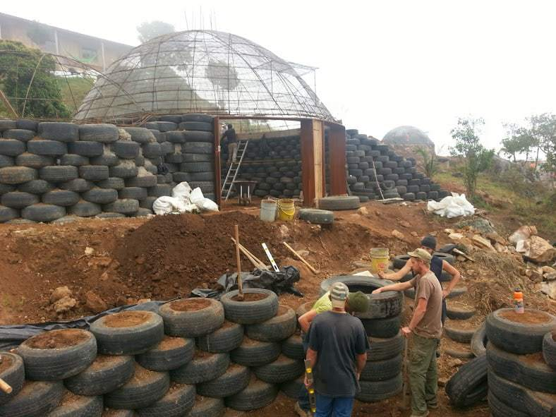 Building Earthships outside of Bogota with Long Way Home