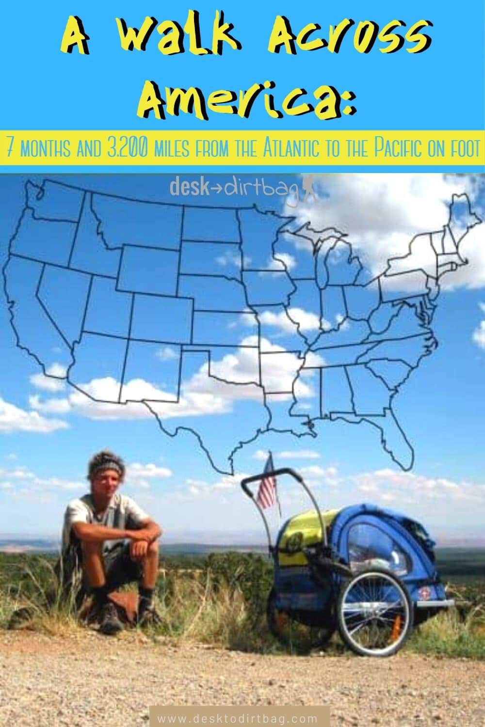How to Walk Across America: Meet Nate Damm and His Life on Foot north-america, armchair-alpinist