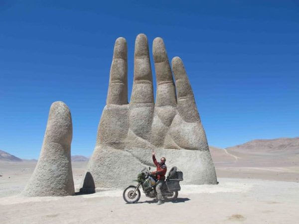 Ben Slavin in Chile on his epic South America motorcycle trip