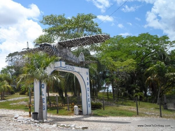 The entry to Hacienda Napoles and one of Pablo's first drug smuggling planes.