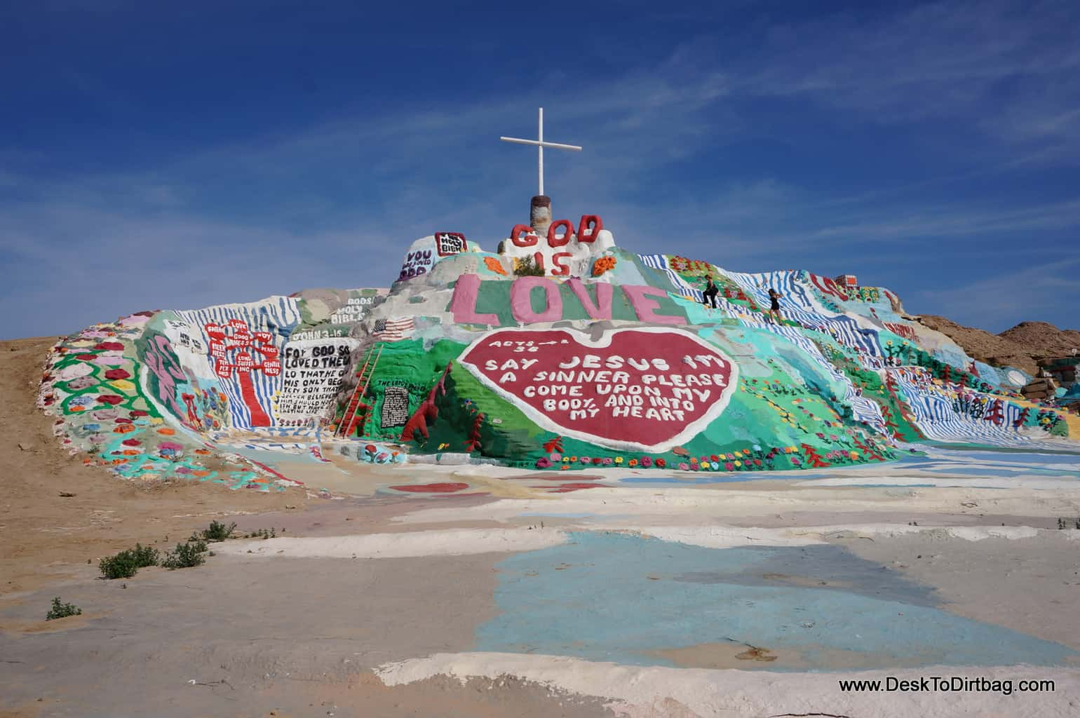 Salvation Mountain near Niland, California and Slab City.