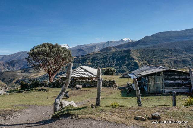 A small farm located alongside the hiking trail. - Sierra Nevada del Cocuy Colombia