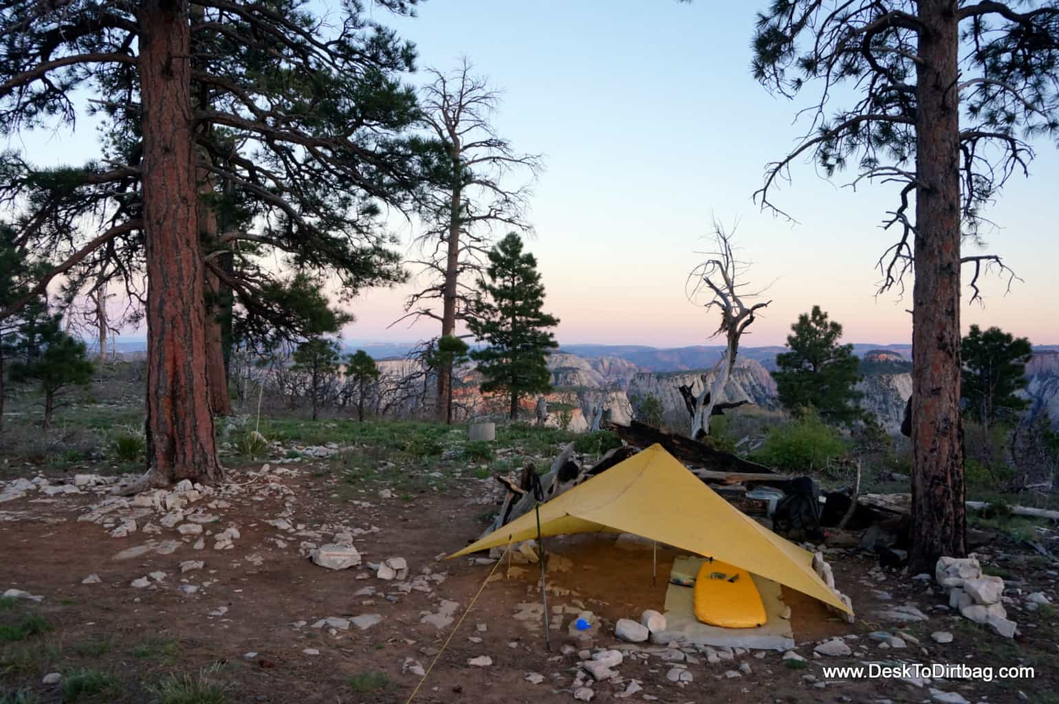 My camp along the rim of Zion National Park, Utah.