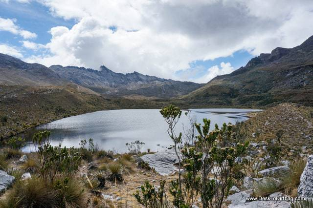 More lakes on the trek to Paso Cusiri - Sierra Nevada del Cocuy Colombia