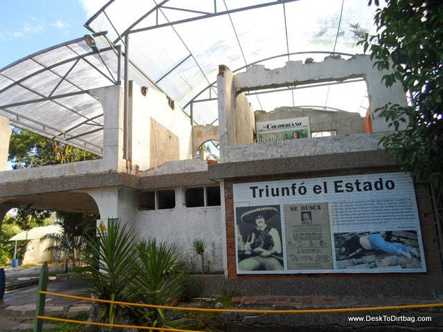 What is left of Pablo's old house at Hacienda Napoles - 8 Best Medellin Tours for Visitors