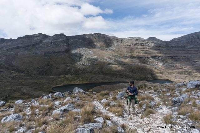 Jeff en Paso Cusiri - Sierra Nevada del Cocuy