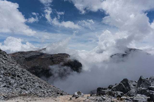 Roiling clouds on the otherside of the pass. - Sierra Nevada del Cocuy Colombia