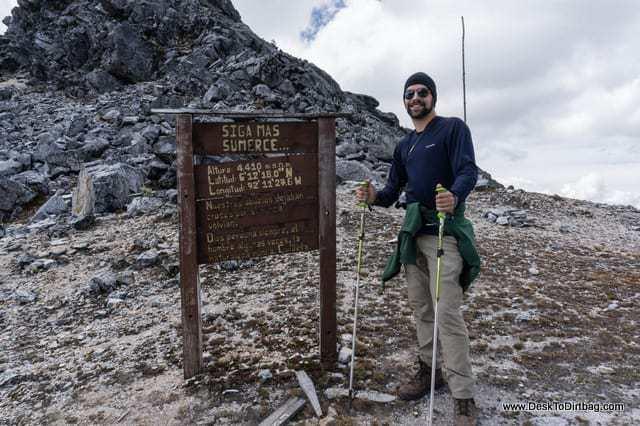 En la cima del paso - Sierra Nevada del Cocuy