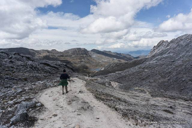 Hiking back down to camp. - Sierra Nevada del Cocuy Colombia