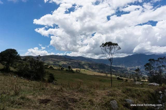 Vista del pueblo - Sierra Nevada del Cocuy