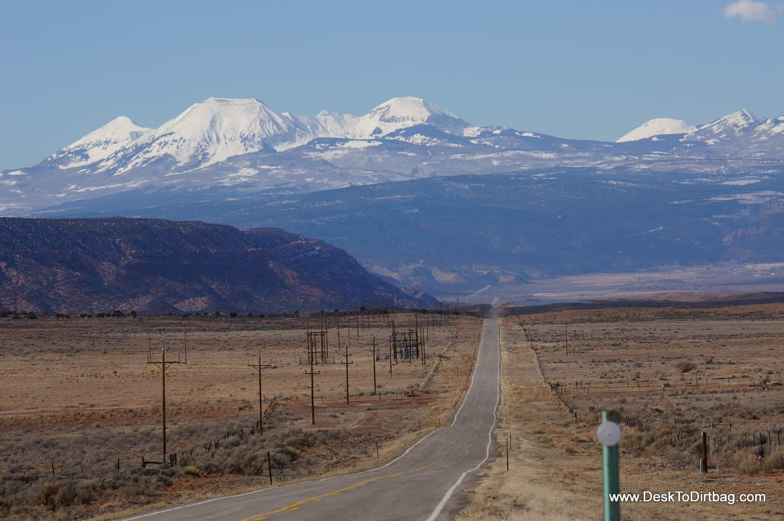 The La Sal Mountains of Utah as seen on the drive from Colorado.