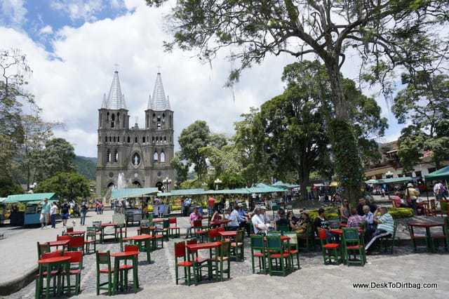 The main plaza of Jardin is a lively place - things to do in jardin colombia