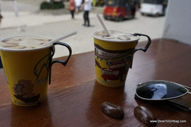 Great coffee right off the main square at Cafe de los Andes.