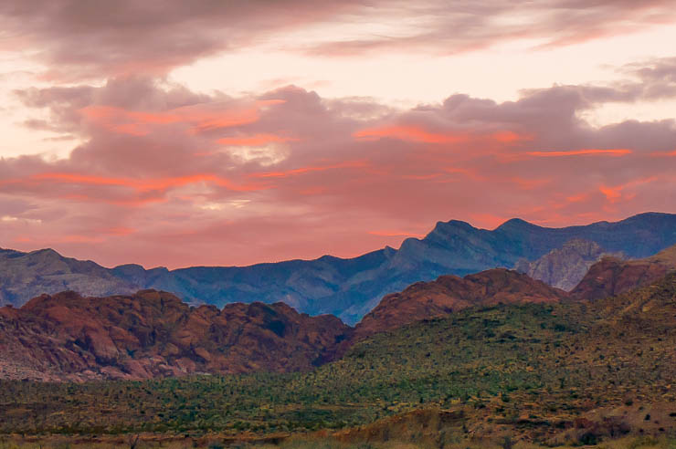 Sunset at Red Rock Canyon, Las Vegas, Nevada