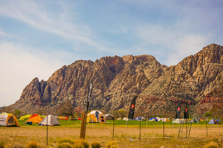 Tent city on the final day. Located at Spring Mountain State Park