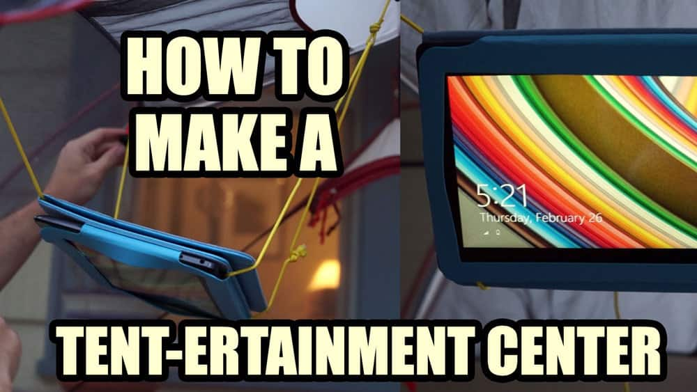 How to make a tent entertainment center tablet ipad