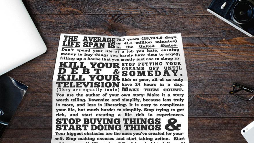 The Dirtbag Manifesto - How I Aim to Live My Life
