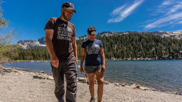 Go Outside T-Shirt - Holiday Gift Guide for Adventure Travelers and Outdoor Lovers