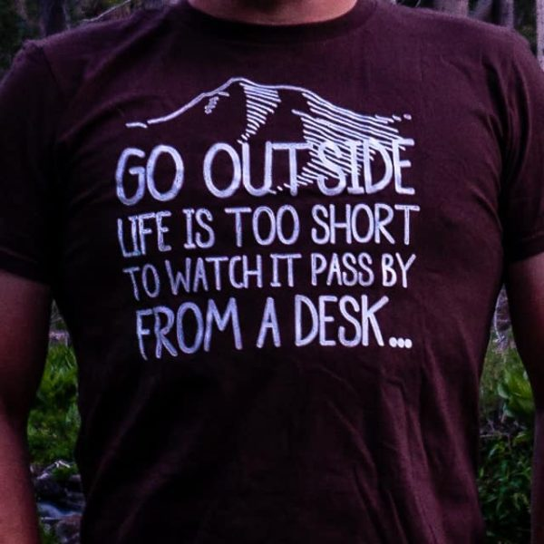 'Go Outside' Shirt from Desk to Dirtbag