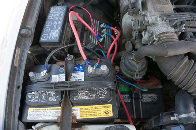 truck-camping-dual-battery-setup-1  Wire Into Trailer Wiring Diagram on