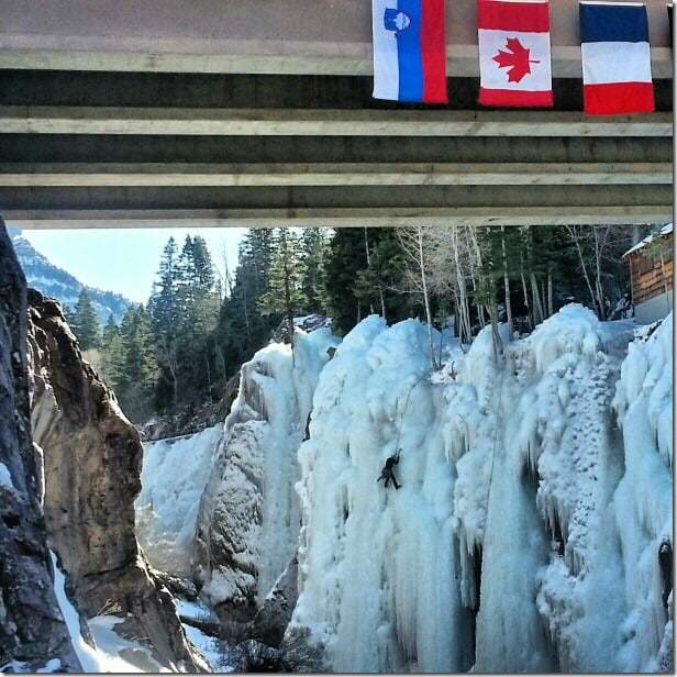 Try your hand at ice climbing in the Ouray Ice Park (Colorado) - 49 Places to Visit on the Ultimate West Coast Road Trip