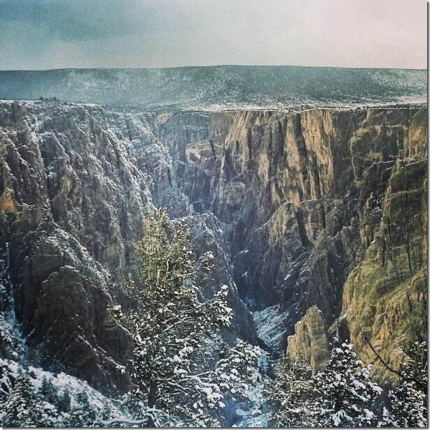 Stand before the Black Canyon of the Gunnison National Park